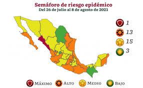 Retrocede Veracruz y otros Estados en el semáforo epidemiológico.