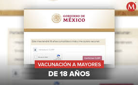 Inicia registro para vacunar a personas mayores de 18 años